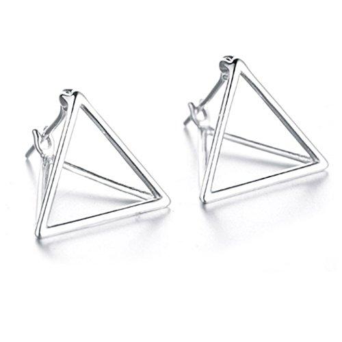 Helen de Lete Aretes de plata de ley con triángulo geométrico simple S925
