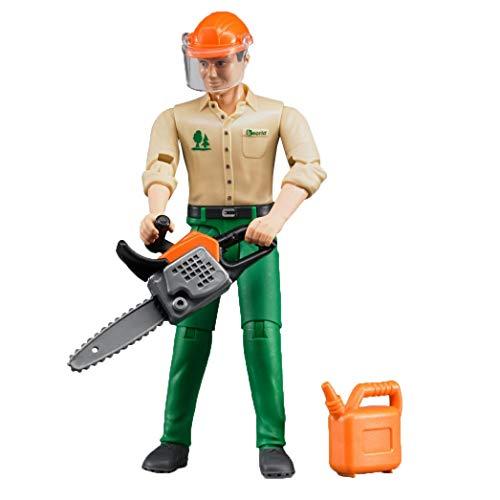Bruder Forstarbeiter mit Zubehör, Kunststoff