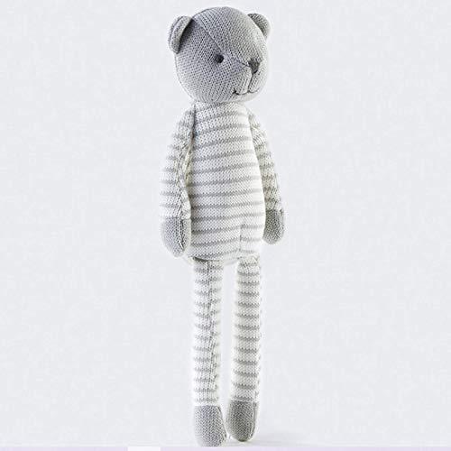 dingtian Juguetes suaves de punto oso juguetes suaves para recién nacidos bebé acostarse historia contar edredón muñeca Pascua regalo hecho a mano oso juguetes suaves