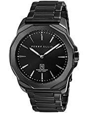 [ペリー・エリス]Perry Ellis 腕時計 DECAGON(デカゴン) クォーツ 46 mmケース ステンレススティールバンド 05006-02 メンズ 【正規輸入品】