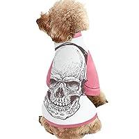 犬の服パピー スカル 可愛い 犬服 秋冬用 ドックウェア ペット服 ふわふわ 暖かい 犬猫用 お散歩お出かけ ヘッドフォン付きデジタルドットワークスタイルパンクスカルヒッピーデッドボーングラフィックプリント