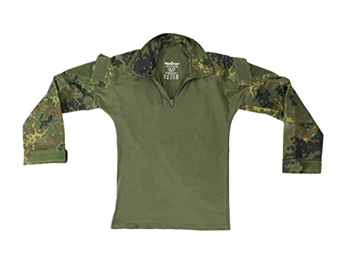 Invader Gear Combat Shirt, mit Oberarmtaschen, hoher Tragecomfort - Flecktarn XL