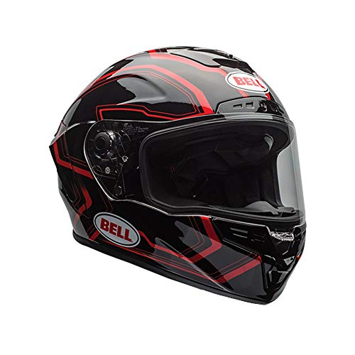 BELL caschi Street 2017Star Adult casco, ritmo nero/rosso, taglia 2x S