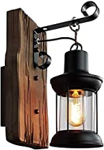 YUANSHOPPING Wall Lamp Industrial Vintage Retro Wooden Metal Wall Light Fixture Sconces Wall Lighting for The Home Corrido...