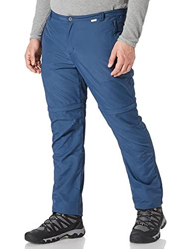 Regatta Leesville II Zip-Off Pantalón de Senderismo, Hombre, Azul (Dark Denim), 44