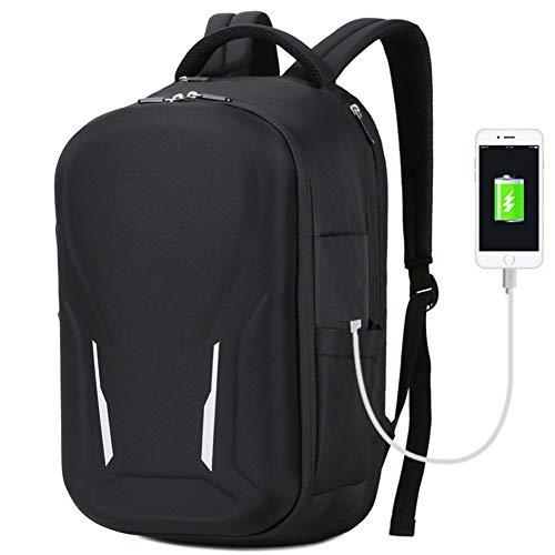 LNLJ schoolrugzak met USB-aansluiting en reflecterende uniseks hardshell styling geschikt voor 15,6 inch laptops en notebooks