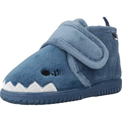 Victoria Bota Velcro Animales, Botas Slouch Unisex niños, Azul (Azul 36), 26 EU