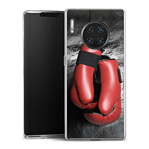 DeinDesign Slim Case extra dünn kompatibel mit Huawei Mate 30 Pro Silikon Handyhülle transparent Hülle Boxen Boxhandschuhe Sport