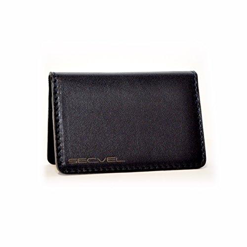 TÜV probó y patentó la Tarjeta de protección Protectora para 4 Tarjetas Cuero Negro | Bloqueador RFID NFC | Blindaje de Campo magnético | Jammers para Tarjeta de crédito, Tarjeta de Identidad