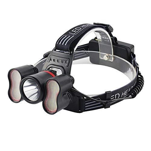 RMXMY Personnalité de la Mode USB éblouissement Maison pêche Alpinisme Nuit équitation Camping lumières Rechargeable Multi-Fonction capteur phares