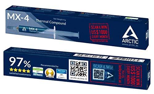 ARCTIC MX-4 (4 g) - Compuesto térmico de alto rendimiento de micropartículas de carbono, pasta térmica para cualquier ventilador de CPU