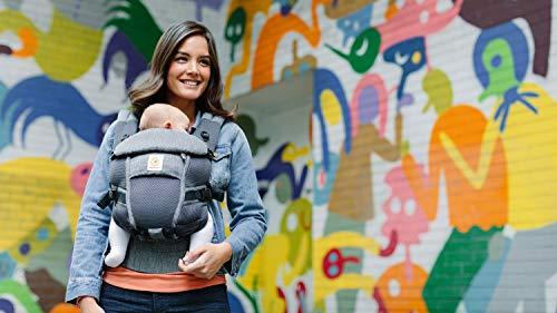 ERGO Baby 抱っこひも おんぶ可 [日本正規品保証付] 3Dエアーメッシュ (洗濯機で洗える) 軽量 ベビーキャリア アダプト クールエア Adapt クラシックウィーブ 1か月~ CREGBCPEAPWEAVE
