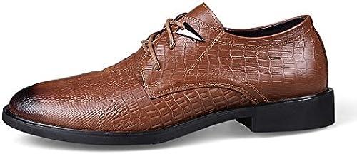 LHLWDGG.K zapatos zapatos De Vestir negros zapatos Retro De hombres zapatos Oxford, marrón, 8.5