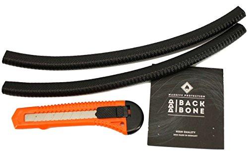 Backbone Kantenschutz für Skateboards, Schwarz, 6-8 mm