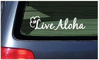 Live Aloha Car Window Sticker Flower Hawaii Design Decal - Bumper Laptop Stickers