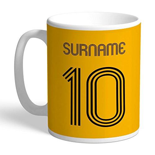 Official Personalised Wolverhampton Wanderers FC Retro Shirt Mug