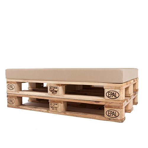 Arketicom Pallett-One Cheope Sitzkissen für Sofa aus Europaletten, wasserabweisend, abnehmbar, Farbe:Ecru,...