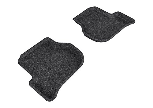 3D MAXpider Second Row Custom Fit Floor Mat for Select Volkswagen Jetta Models - Classic Carpet (Gray)