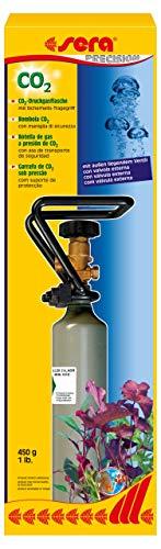 sera CO2-Druckgasflasche mit außen liegendem Ventil und Cage 450 g