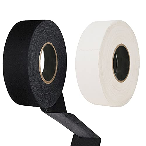 Eterspr 2 Roll Hockey Band Tapes, Rutschfestes Hockey Griffband, Hockey Sport Griffe Band Lenkerband, für Badminton-Griff, Golfstange, Rollhockey, 2.5cm×20m (Schwarz, Weiß)