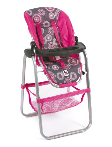CHIC 2000 Chaise Haute pour poupées Rose Vif - Motifs de Perles