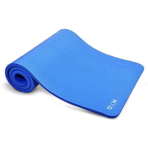 JOWY Esterillas de Yoga y Pilates para Gimnasio en casa (Azul NBR)