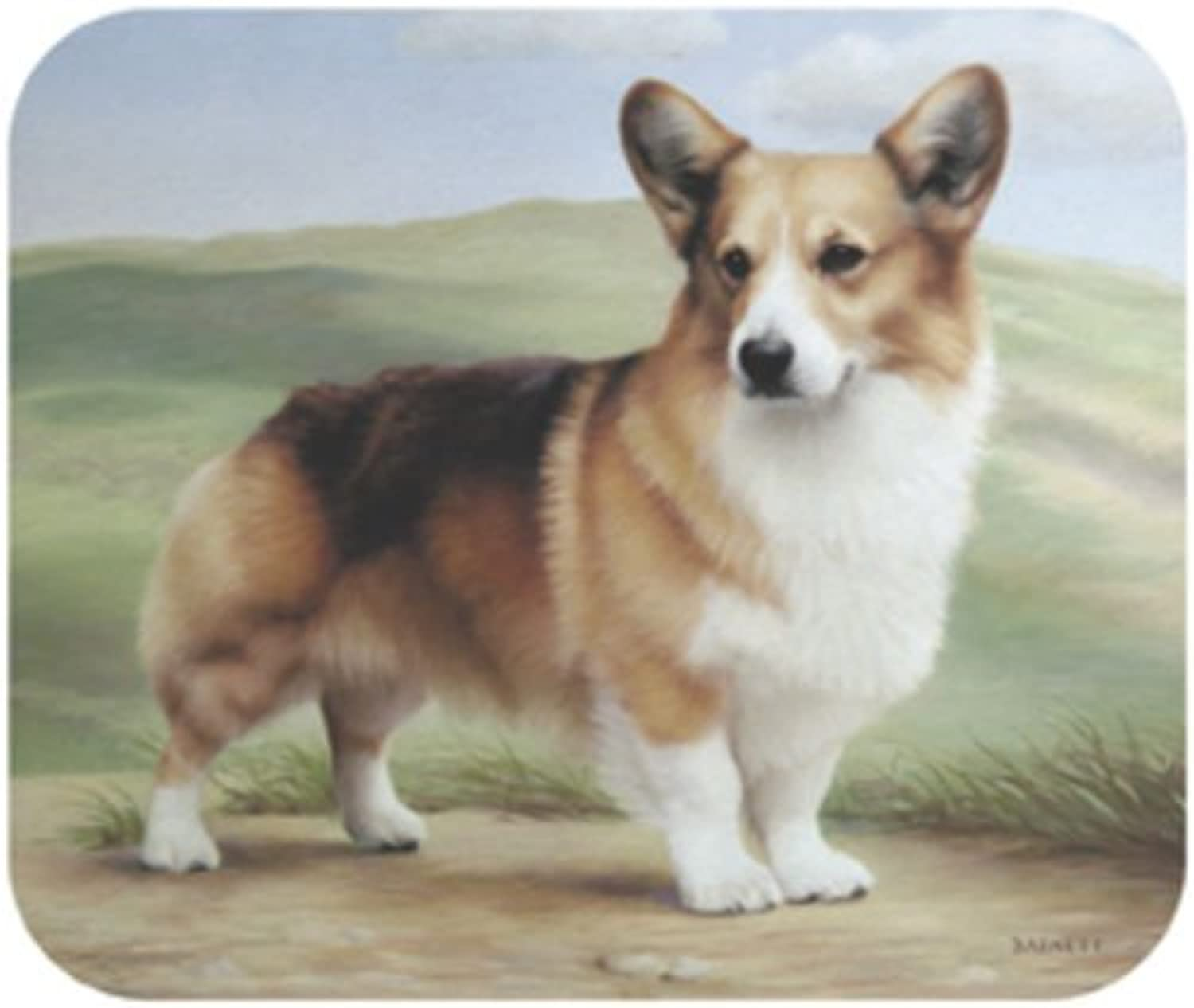Corgi On Porch Dog Puppy Mouse Pad MousePad by Fiddler's Elbow B0141NIVG6   | Genial