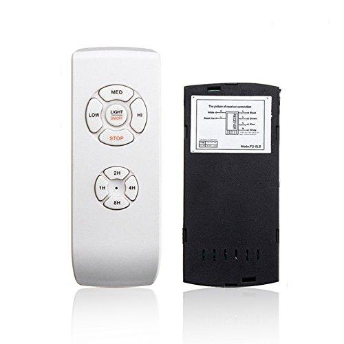 NANAD - Kit de mando a distancia universal para ventilador de techo, 110 V/220 V, temporizador inalámbrico, mando a distancia rojo, para el hogar, oficina, hotel, restaurante, etc.