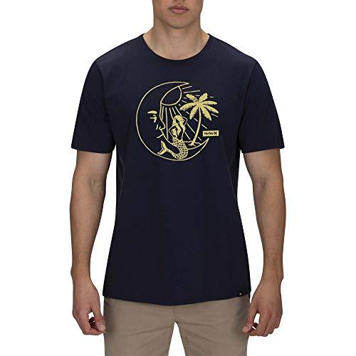 Hurley M Lunar Paradise S/S tee Camisetas, Hombre, Obsidian