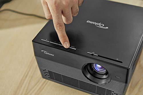 Optoma UHL55 Projector - Black Amazon Alexa and Google Home Voice Control