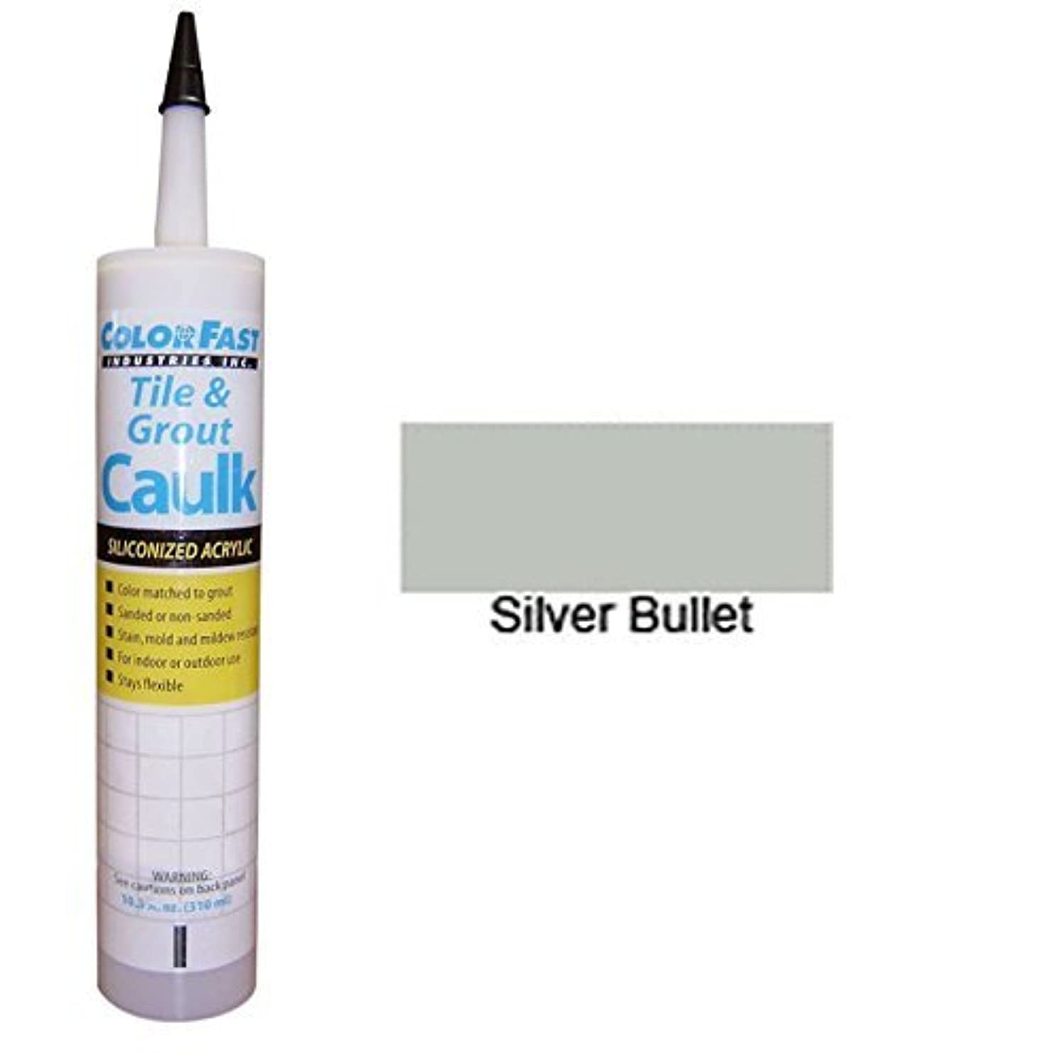 Hydroment Color Matched Caulk by Colorfast (Unsanded) (H168 Silver Bullet)