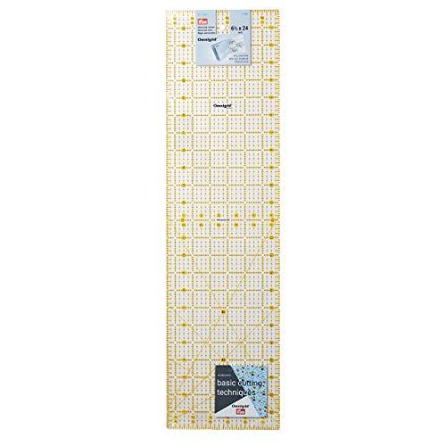 Prym Universal 6.5 x 24 inch Omnigrid Ruler, Plastic, Transparent