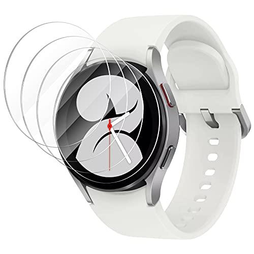CAVN Protector de Pantalla Compatible con Samsung Galaxy Watch 4 40 mm, [4-Piezas] impermeable Vidrio Templado Protectora Resistente Rayones protectora para Galaxy Watch 4 (40 mm)