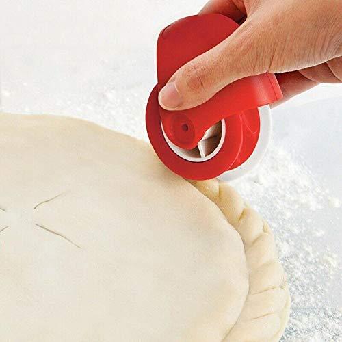 Roller pizza pasticceria Lattice taglierina pasticceria decorazioni rotella tagliapasta in plastic a per forniture per la casa 1 PCS