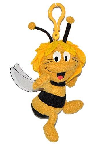 alles-meine.de GmbH Plüschtier / Schlüsselanhänger -  die kleine Biene Maja  - Bienen Honig Honigbiene Plüsch Anhänger gelb schwarz Streifen - Anhänger für Schlüssel & Kuschelt..