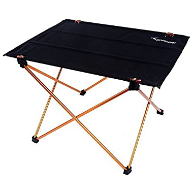 Folding Camping Table, Portable Lightweight Roll Up Picnic Table by Sportneer