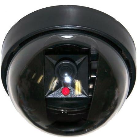 DUMMY CCTV CAMERA SECURITY DOME SURVEILLANCE FAKE INFRARED LED FLASHING LIGHT