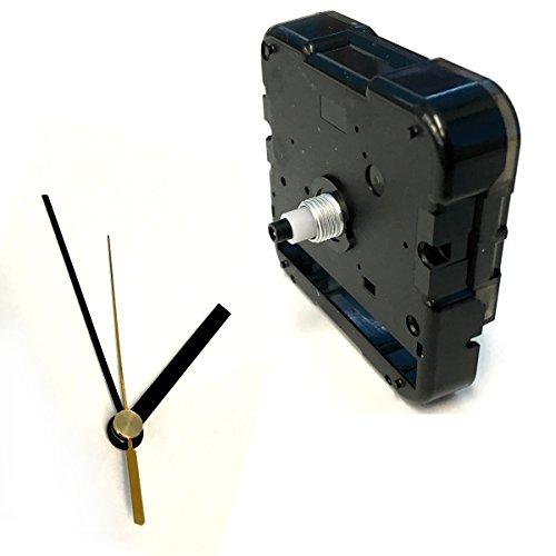手作り時計用ムーブメント 時計シャフト & 針セット (ショートシャフト&棒型・黒Q-9)