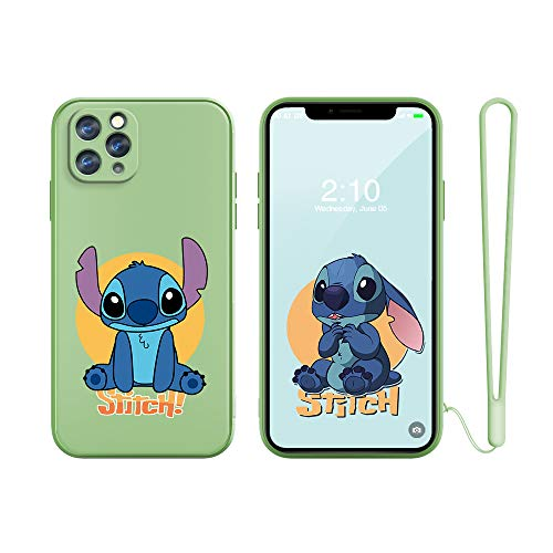 "for iPhone 11 Pro Max Case Cover, Slim Cartoon Kids TPU Soft Straight Edge Liquid Shockproof Protector Cover Skin for Apple iPhone 11 Pro Max 6.1"" with Lanyard Gift"