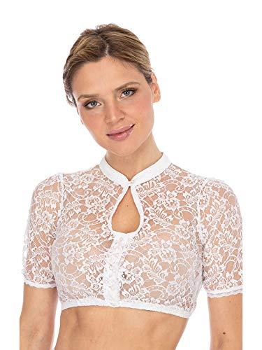 Stockerpoint Damen Bluse B-5075 Trachtenbluse, Weiß (Weiss Weiss), (Herstellergröße: 42)