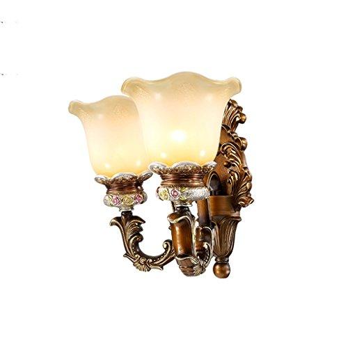 SKC Lighting-Applique murale Lampe murale européenne rétro chambre pastorale miroir de chevet salon avant évier escalier escalier lampe de jardin (taille : Double head)
