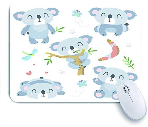 SUHOM Gaming Mouse Pad Rutschfeste Gummibasis,Bär Cartoon Koala Baby Bumerang Nette Aborigines,für Computer Laptop Office Desk,240 x 200mm