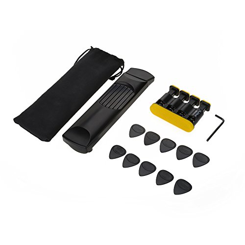 VGEBY Finger Exerciser Gitarre 6 Fret Pocket Guitar Übungsakkordtrainer Handgelenk Finger Exerciser Kit Training Tools