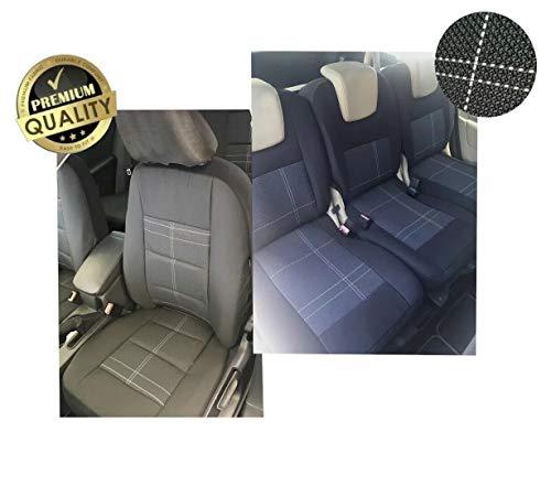 AB1 Flexzon - Juego completo de fundas de asiento para tela OEM, color negro