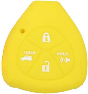 SEGADEN Silicone Cover Protector Case Skin Jacket fit for TOYOTA 4 Button Remote Key Fob CV2416 Yellow
