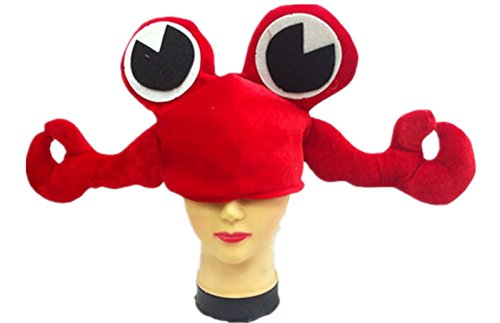 Bear boys Funny Multicolor Halloween Festival Party Creative Stereoscopic Marine Life Mardi Gras Party Kostüm Hat Big Eyes Red Crab