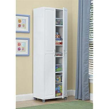 Ameriwood SystemBuild 24  Utility Storage Cabinet, White