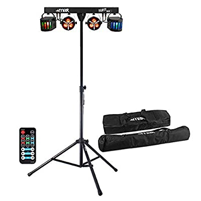 Max Party Bar Light PAR Derby All in One Disco Stage LED Lighting with Stand & Bags