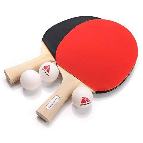 Ping Pong Tenis de Mesa - Raqueta y 3 Pelotas de Ping Pong - Table Tennis Accesorio para Entrenamiento y Actividades al Aire Libre y Deportes (Rainbow)