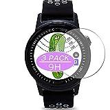 3枚 VacFun ガラスフィルム , GOLFBUDDY aim W10 Golf GPS 向けの 強化ガラス フィルム 保護フィルム 保護ガラス ガラス スマートウォッチ と互換性のある 液晶保護フィルム 腕時計